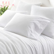 Essential Percale White Fitted Sheet
