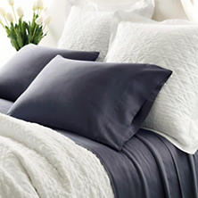 Essential Sateen Blue Fitted Sheet