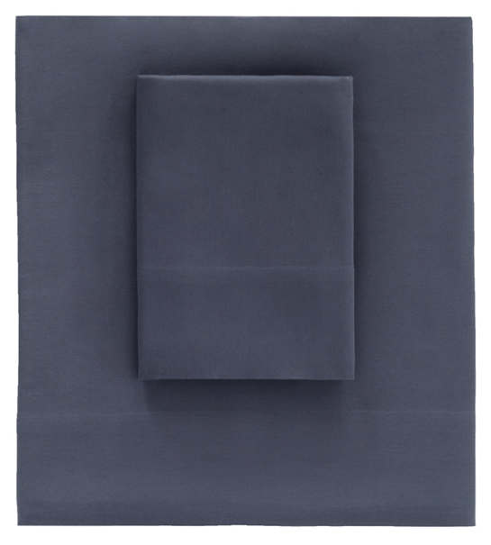 Essential Sateen Blue Flat Sheet