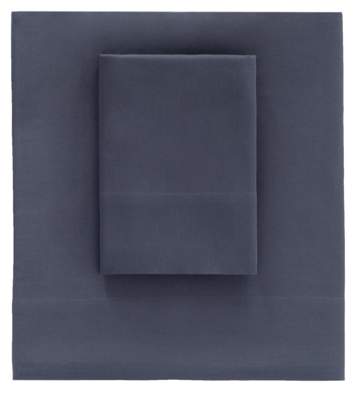 Essential Sateen Blue Flat Sheet