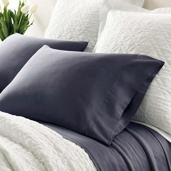 Essential Sateen Blue Pillowcases