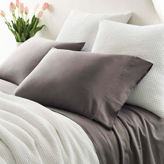 Essential Sateen Grey Fitted Sheet