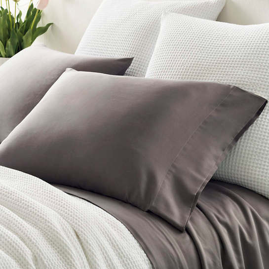 Essential Sateen Grey Pillowcases