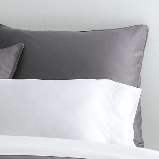 Essential Sateen Grey Sham