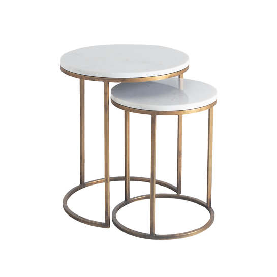 Essentials White Side Table /Set Of 2
