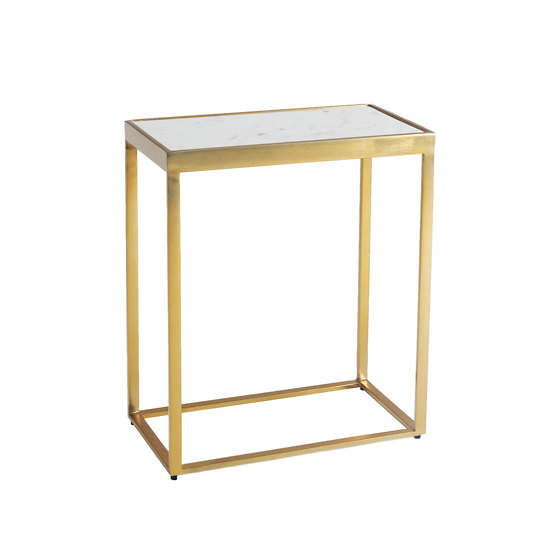 Essentials White Side Table