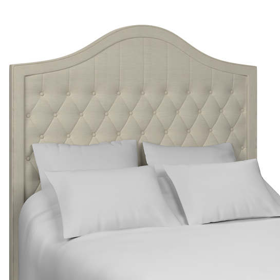 Estate Linen Pearl Grey Essex Headboard