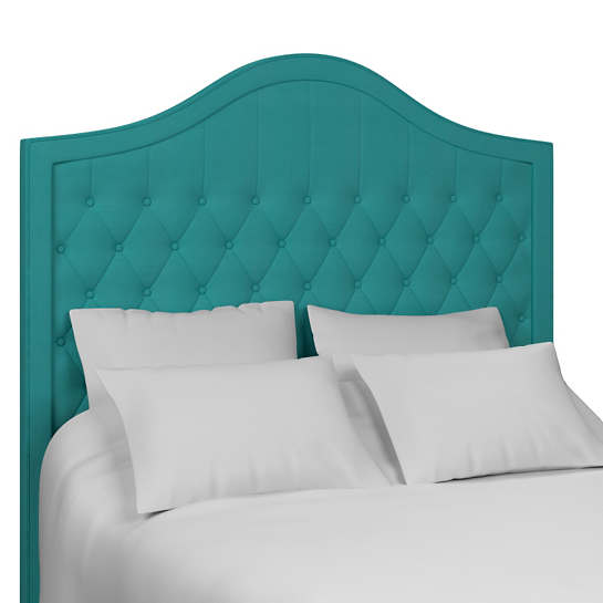 Estate Linen Turquoise Essex Headboard