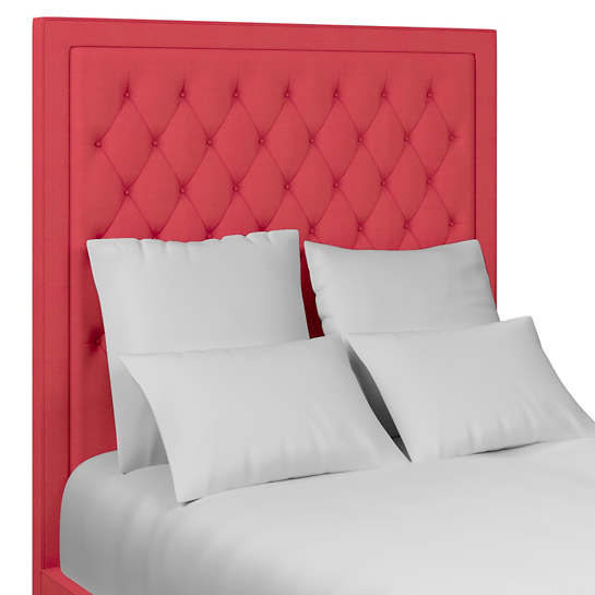 Estate Linen Azalea Stonington Tufted Headboard