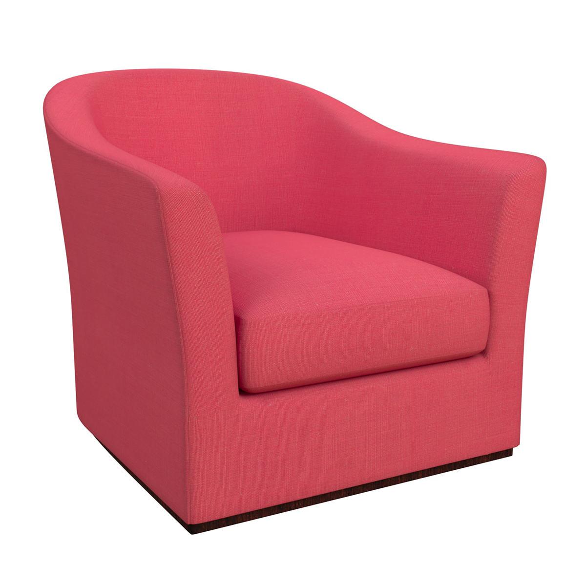 Estate Linen Azalea Thunderbird Swivel Chair