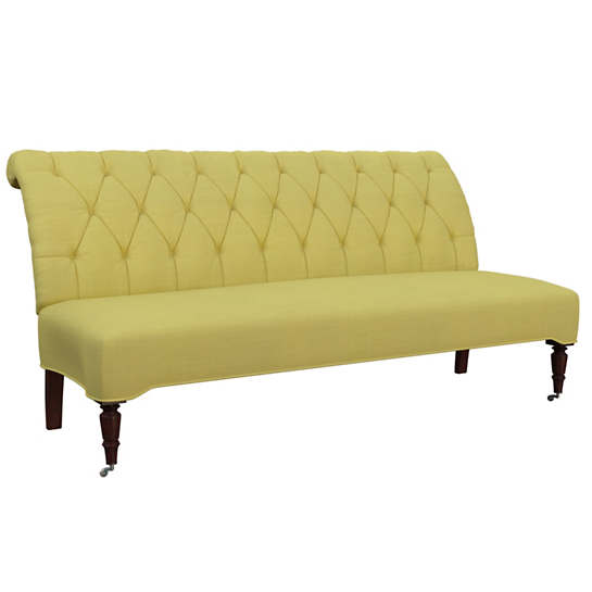 Estate Linen Citrus Bordeaux Settee