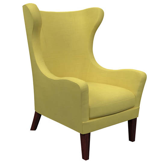 Estate Linen Citrus Mirage Tobacco Chair