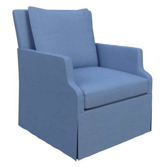 Estate Linen French Blue Aix Chair