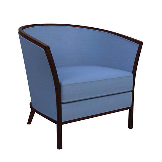 Estate Linen French Blue Bijou Chair