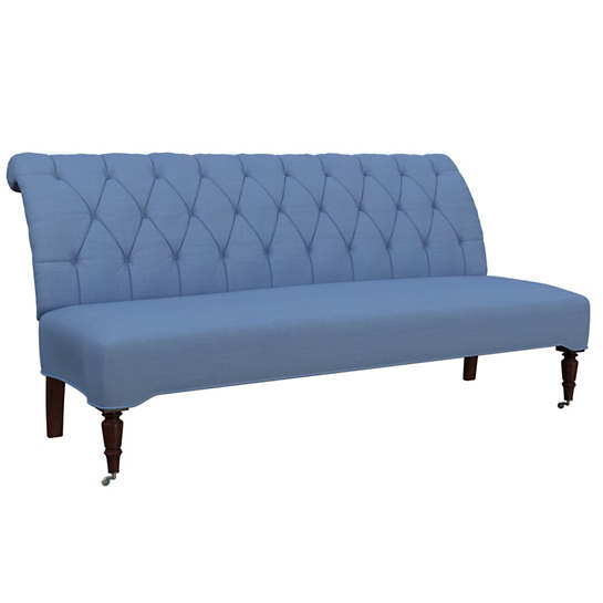 Estate Linen French Blue Bordeaux Settee