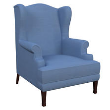 Estate Linen French Blue Lismore Chair