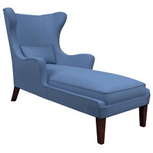 Estate Linen French Blue Mirage Tobacco Chaise