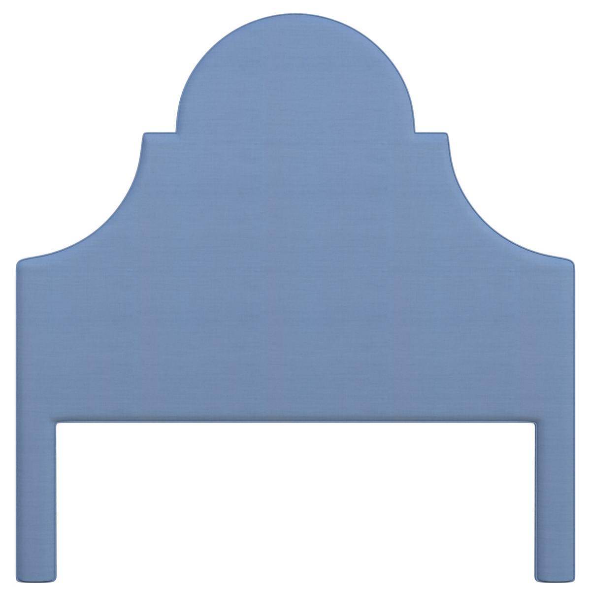 Estate Linen French Blue Montaigne Headboard