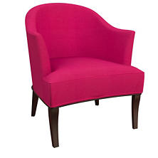 Estate Linen Fuchsia Lyon Chair
