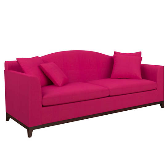 Estate Linen Fuchsia Marseille Sofa