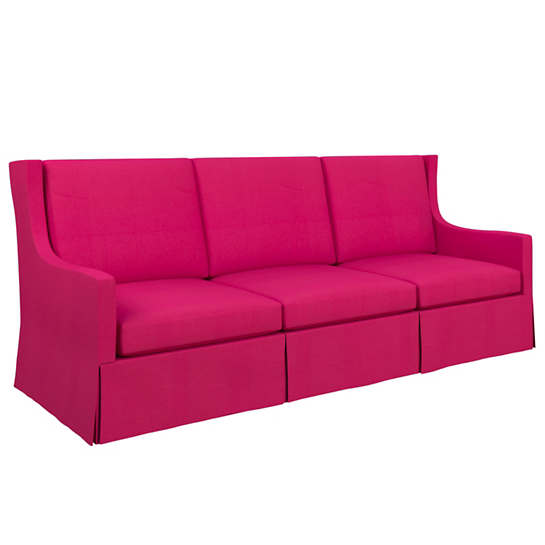 Estate Linen Fuchsia Toulouse Sofa