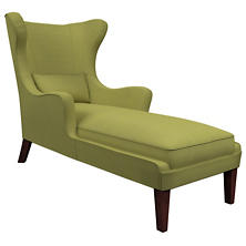 Estate Linen Green Mirage Tobacco Chaise