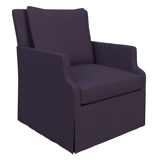 Estate Linen Indigo Aix Chair