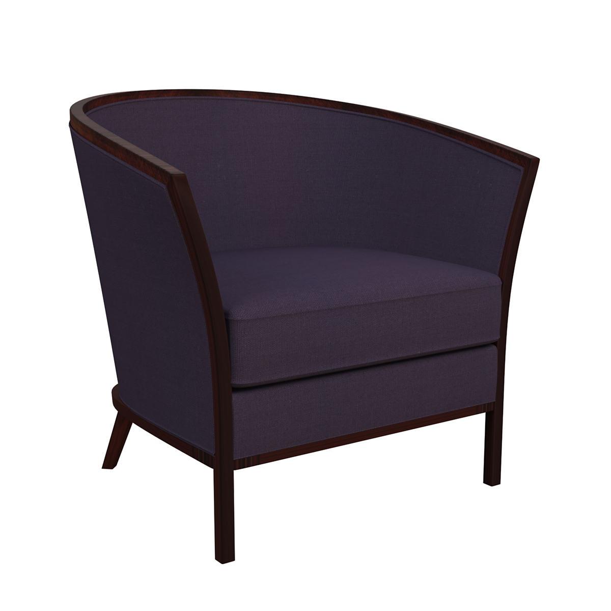 Estate Linen Indigo Bijou Chair
