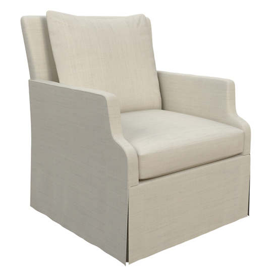 Estate Linen Pearl Grey Aix Chair