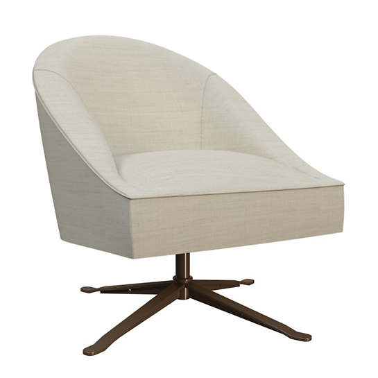 Estate Linen Pearl Grey Embrace Chair