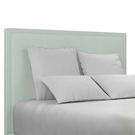 Estate Linen Powder Blue Colebrook Whitewash Headboard