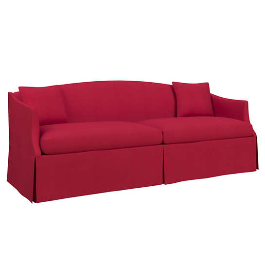 Estate Linen Red Avignon Sofa