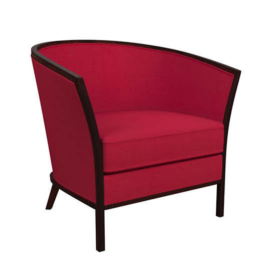 Estate Linen Red Bijou Chair