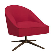 Estate Linen Red Embrace Chair