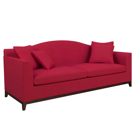 Estate Linen Red Marseille Sofa
