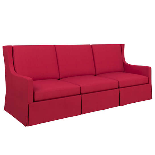 Estate Linen Red Toulouse Sofa