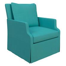 Estate Linen Turquoise Aix Chair