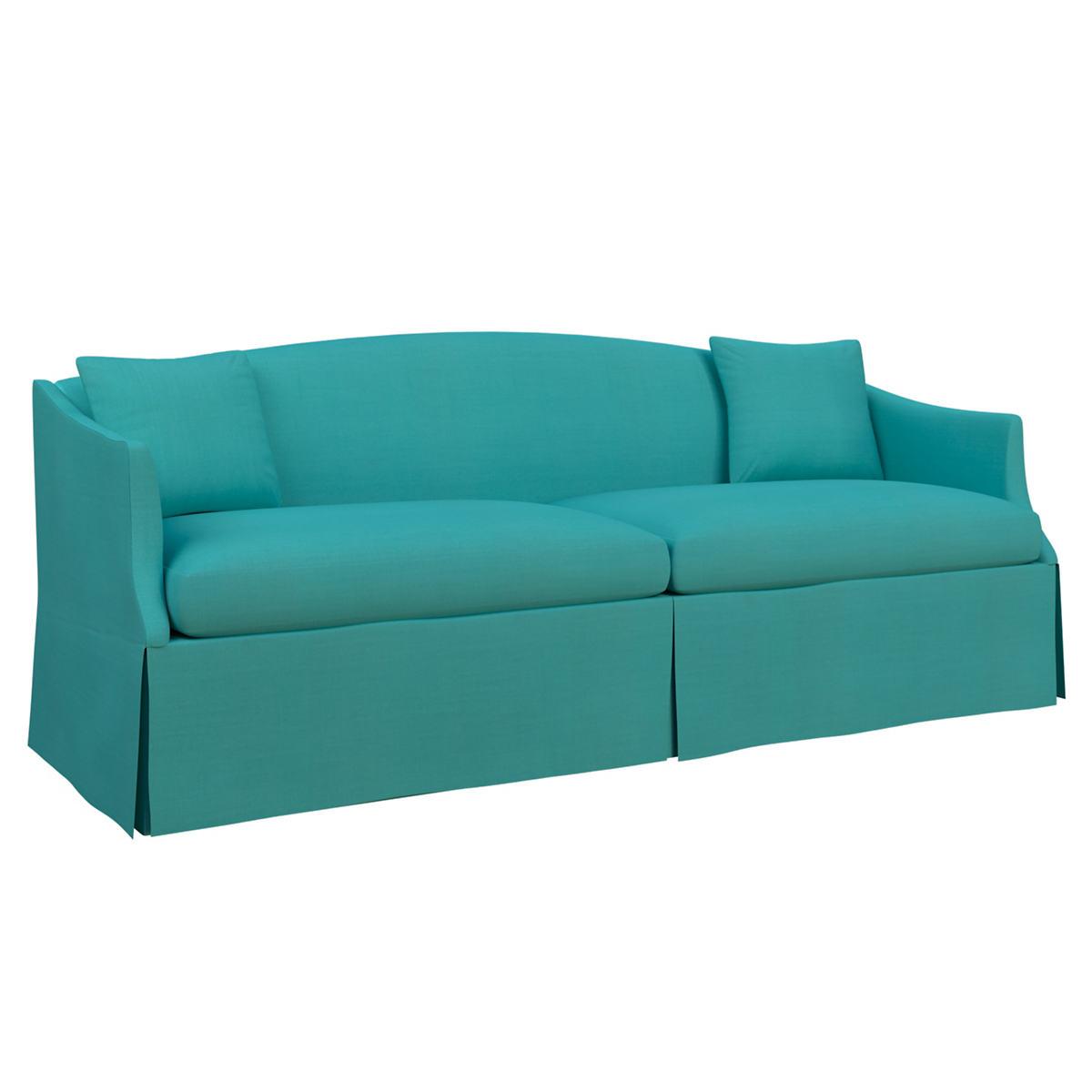 Estate Linen Turquoise Avignon Sofa
