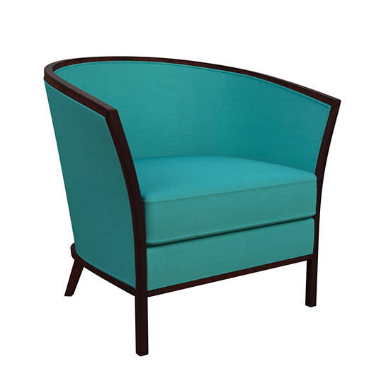 Estate Linen Turquoise Bijou Chair