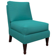 Estate Linen Turquoise Eldorado Chair
