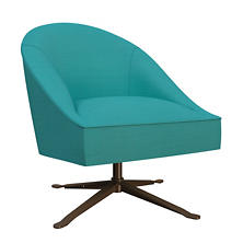 Estate Linen Turquoise Embrace Chair