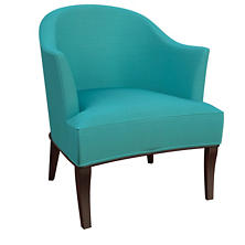 Estate Linen Turquoise Lyon Chair