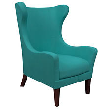Estate Linen Turquoise Mirage Tobacco Chair