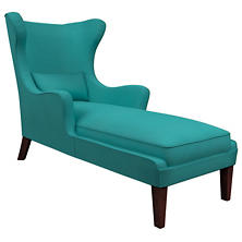 Estate Linen Turquoise Mirage Tobacco Chaise