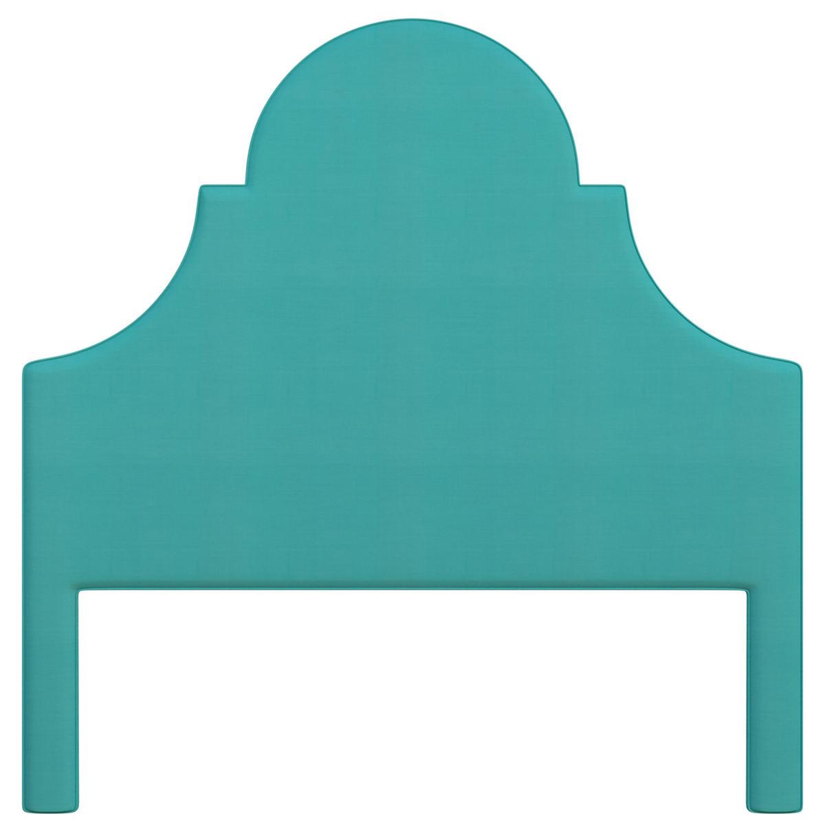 Estate Linen Turquoise Montaigne Headboard
