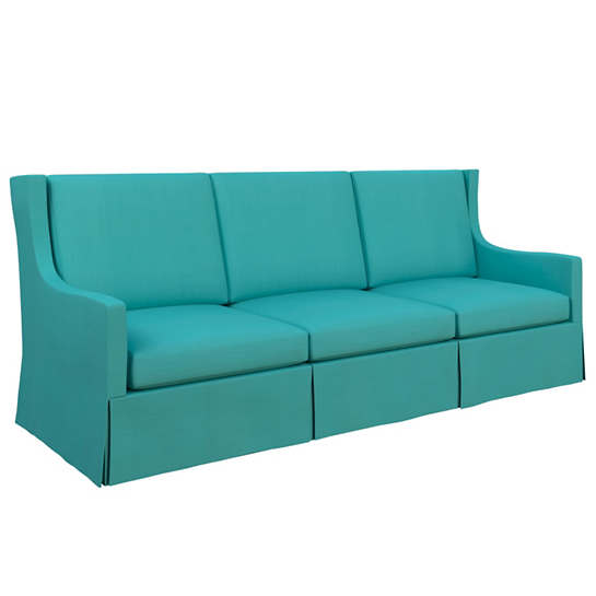 Estate Linen Turquoise Toulouse Sofa