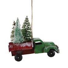 Evergreen Farm Truck Ornament