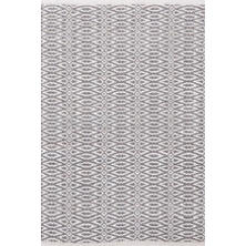 Fair Isle Grey/Platinum Cotton Woven Rug