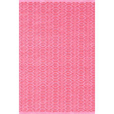 Fair Isle Pink/Fuchsia Cotton  Woven  Rug