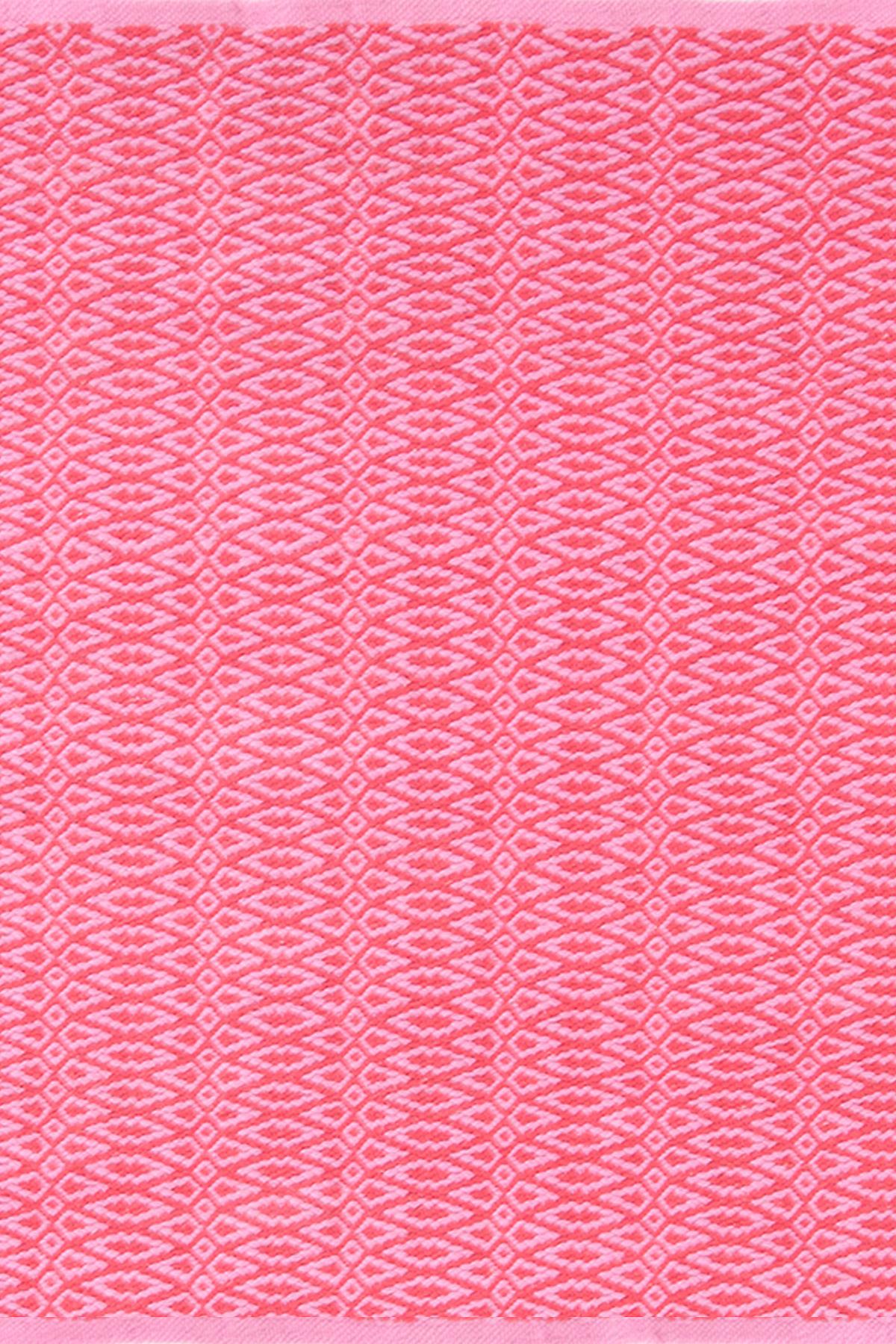 Fair Isle Pink/Fuchsia Cotton Woven Rug | The Outlet